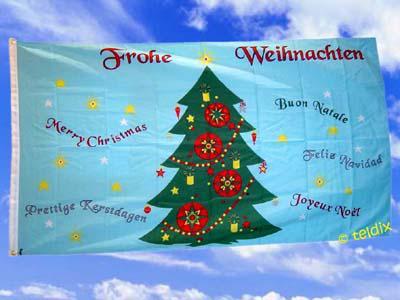 Fahne Flagge FROHE WEIHNACHTEN 150 x 90 cm