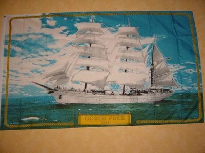 Fahne Flagge GORCH FOCK 150 x 90 cm