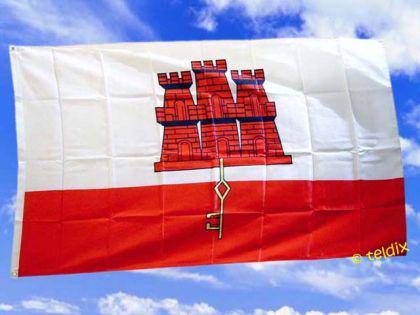 Fahne Flagge GIBRALTAR 150 x 90 cm