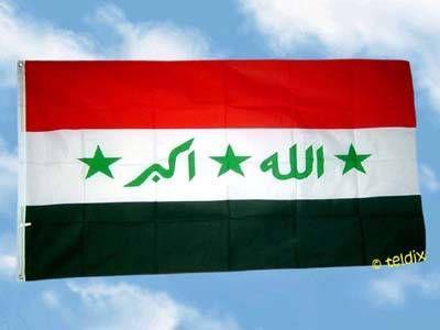Fahne Flagge IRAK MIT SCHRIFTZUG 150 x 90 cm