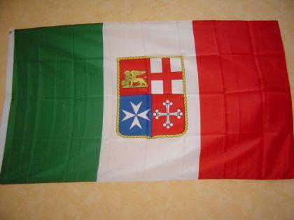 Fahne Flagge ITALIEN MIT WAPPEN 150 x 90 cm