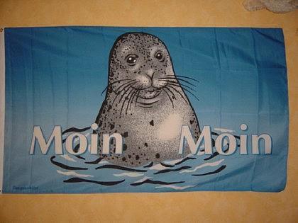Fahne Flagge MOIN MOIN SEEHUND 150 x 90 cm
