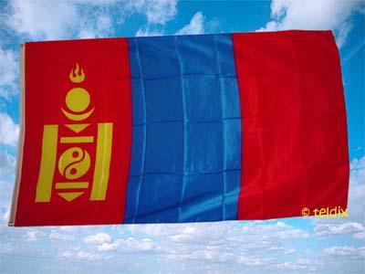 Fahne Flagge MONGOLEI 150 x 90 cm