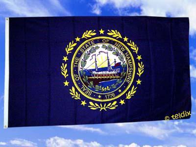 Fahne Flagge NEW HAMPSHIRE 150 x 90 cm