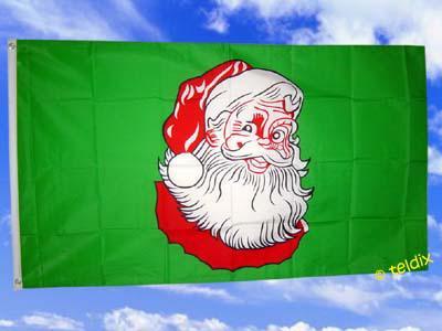 Fahne Flagge SANTA CLAUS 150 x 90 cm