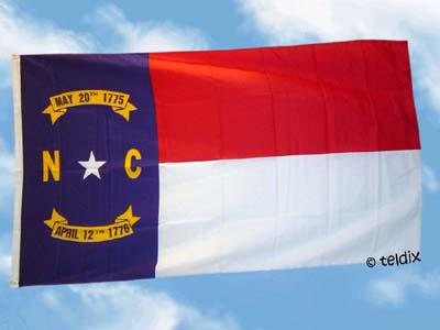 Fahne Flagge NORTH CAROLINA 150 x 90 cm