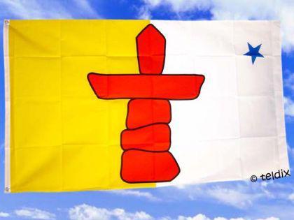Fahne Flagge NUNAVUT 150 x 90 cm