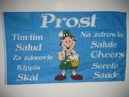 Fahne Flagge PROST TRINKFAHNE 150 x 90 cm