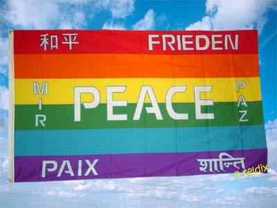 Fahne Flagge PEACE FRIEDEN 150 x 90 cm