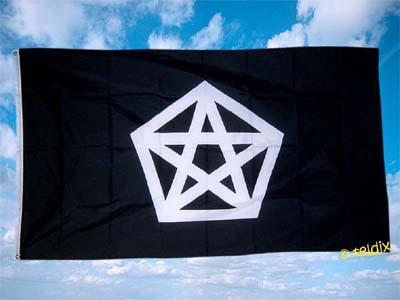 Fahne Flagge PENTAGRAMM 150 x 90 cm