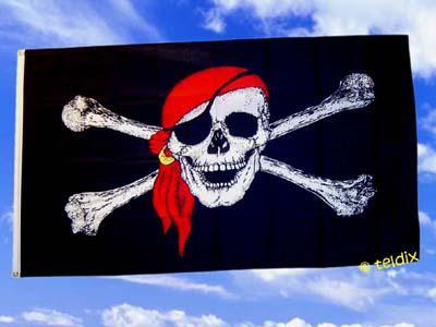 Fahne Flagge PIRAT ROTES TUCH 150 x 90 cm