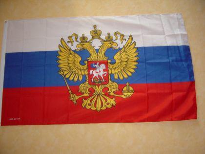 Fahne Flagge RUSSLAND WAPPEN 150 x 90 cm