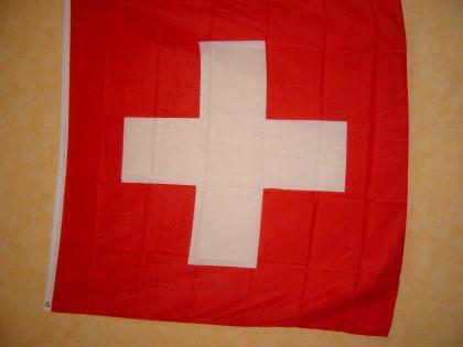 Fahne Flagge SCHWEIZ 120 x 120 cm