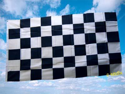 Fahne Flagge ZIELFLAGGE SCHWARZ WEISS 150 x 90 cm