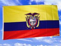 Fahne Flagge ECUADOR MIT WAPPEN 150 x 90 cm