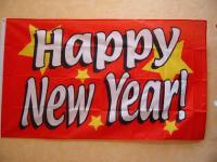Fahne Flagge HAPPY NEW YEAR 150 x 90 cm
