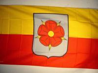 Fahne Flagge LIPPE MIT ROSE 150 x 90 cm