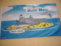 Fahne Flagge SEEHUND AUF SANDBANK e 150 x 90 cm