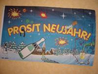 Fahne Flagge PROSIT NEUJAHR 150 x 90 cm