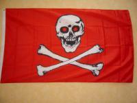 Fahne Flagge PIRAT ROTE AUGEN 150 x 90 cm