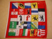 Fahne Flagge 25 SCHWEIZER KANTONE 120x120cm