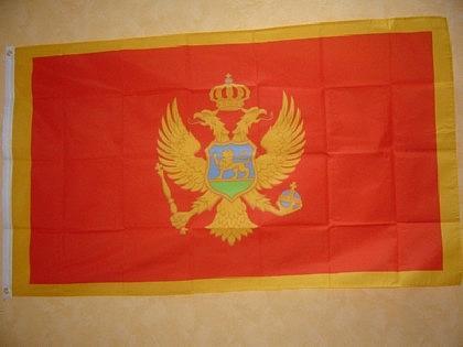 Fahne Flagge MONTENEGRO 150 x 90 cm