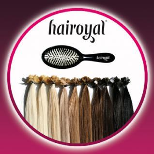 100 Extensions von Hairoyal® glatt + Profi-Extensionsbürste