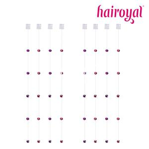 HAIROYAL® Kristalle an Nylonband