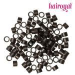 Microrings mit Gewinde - 100 Stück - #dark brown