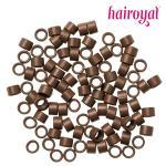 Microrings mit Gewinde - 100 Stück - #light brown