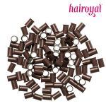 Eurolocks/ Long Microrings - 100 Stück - #medium brown