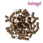 Eurolocks/Long Microrings - 100 Stück - #light brown