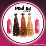 100 Extensions she by SO.CAP. 35/40 cm gelockt + 4U Basic Shampoo & Maschera