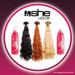 100 Extensions she by SO.CAP. 35/40 cm gewellt + 4U Basic Shampoo & Maschera