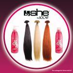 100 Extensions she by SO.CAP. 35/40 cm glatt + 4U Basic Shampoo & Maschera