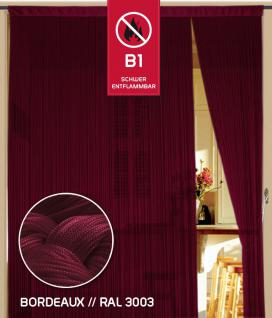 Fadenvorhang 090 cm x 240 cm (BxH) bordeaux in B1 schwer entflammbar