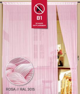 Fadenvorhang 090 cm x 240 cm (BxH) rosa in B1 schwer entflammbar