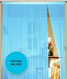 Fadenvorhang 090 cm x 240 cm (BxH) hellblau