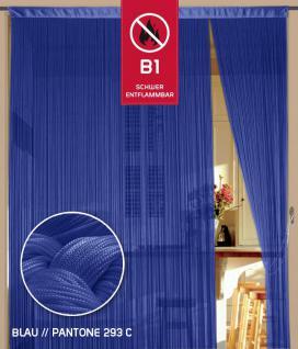Fadenvorhang 090 cm x 240 cm (BxH) blau in B1 schwer entflammbar
