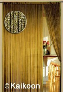 Fadenvorhang 090 cm x 240 cm (BxH) gold glänzend