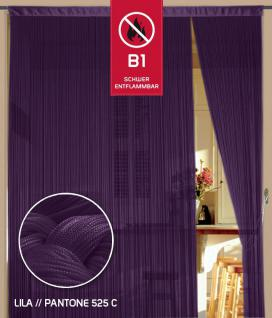 Fadenvorhang 090 cm x 240 cm (BxH) lila in B1 schwer entflammbar