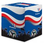 Sitzwürfel WM Frankreich France Maße: 35 cm x 35 cm x 42 cm