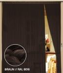 Fadenvorhang 090 cm x 240 cm braun (BxH)