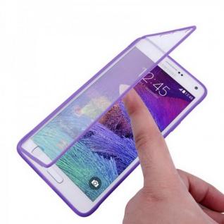 Design Cover mit Frontabdeckung Lila für Samsung Galaxy Note 4 N910 N910F Hülle