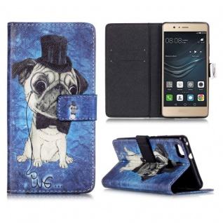 Schutzhülle Muster 73 für Huawei P9 Lite Bookcover Tasche Case Hülle Wallet Etui