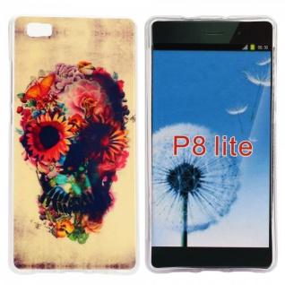 Schutzhülle Silikon Muster 31 für Huawei Ascend P8 Lite Tasche Case Hülle Schutz