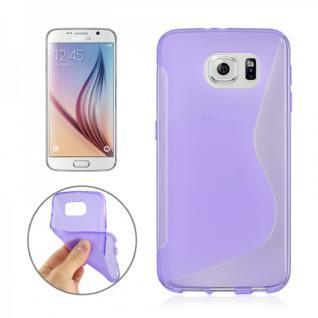 Silikonhülle S-Line Lila Cover Hülle für Samsung Galaxy S6 G920 G920F Kappe Case