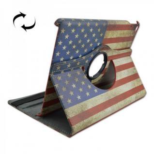 Schutzhülle Kunstleder Tasche 360 Grad USA für Apple iPad Air 2 2014 Case Kappe