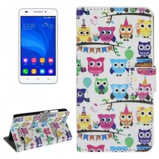 Schutzhülle Muster 45 für Huawei Ascend G620S Bookcover Tasche Hülle Wallet Neu