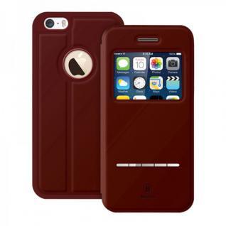 Original Baseus Window View Tasche Rot für Apple iPhone 6 4.7 Etui Hülle Case